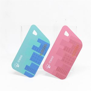 Unique Design Non-standard Shape Irregular Plastic card for Gift Card