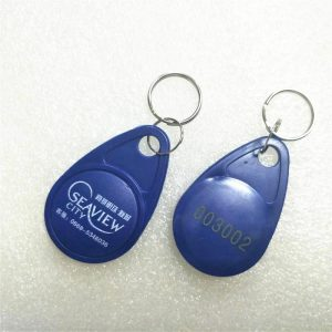 Printable Logo 125KHZ RFID Keyfob With EM4450 Chip For Access Control