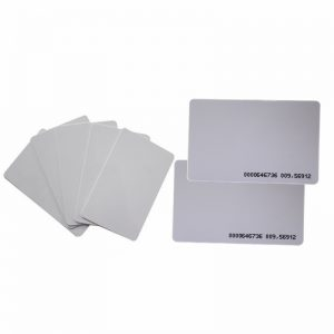 inkjet printing cr80 blank pvc card with T5577 chip for access control