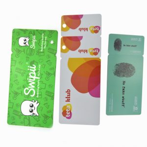 Customized logo plastic Combination PVC card with Hole