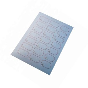 860-960mhz A4 2*5 0.5mm UHF H3 RFID PVC Inlay Sheet for Plastic Smart Card Laminating