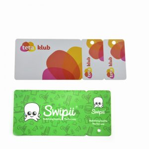 Plastic PVC Mini Key Card 3 in 1 or 2 in 1 Combo Card Membership PVC Card