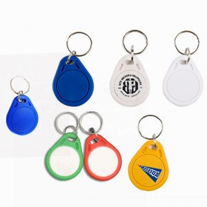 Writable RFID Key Fob With 13.56MHZ I-code Sli Chip For Door Lock System