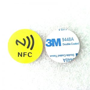 Self-adhesive 13.56MHZ RFID Disc Coin Tag With Mifare Plus 4k Chip