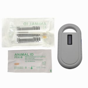FDX-B RFID animal microchips 2.12x12mm with Gun Syringe ICAR certificated