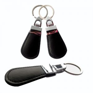 LF TK4100 Keychain leather rfid keyfob with multi-colors to choose