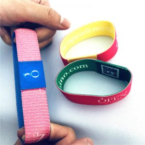 Double Side Printed Fabric RFID Elastic Wristband With Ultralight EV1  Chip