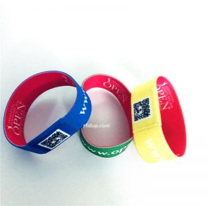 Colorful RFID Elastic Wristband, HF NFC Stretch Bracelet For Event