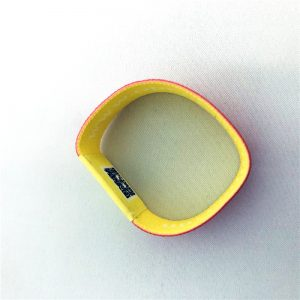 Fashion 13.56MHZ RFID Elastic Wristband With Ntag216 Chip And QR Code