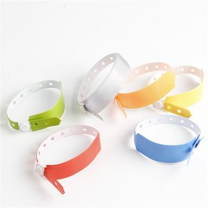 One Time Use RFID PVC Disposable ID Bracelets With S50 Chip