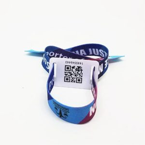 13.56mhz NFC woven Bracelets F08 M1 Chip tag fabric Disposable Wristband