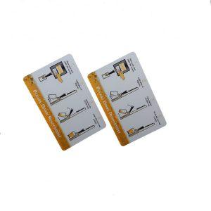 13.56mhz RFID PVC Hotel Key Card With Ntag215 Chip