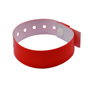 Full Color Printing Disposable PVC RFID Bracelet With 13.56MHZ S70 Chip
