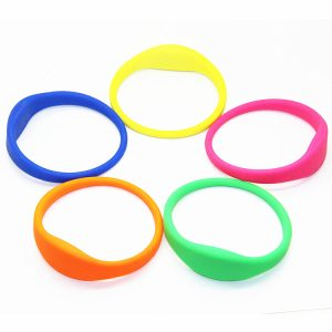 13.56mhz Des-fire 8k EV2 rfid silicone bracelet with free sample