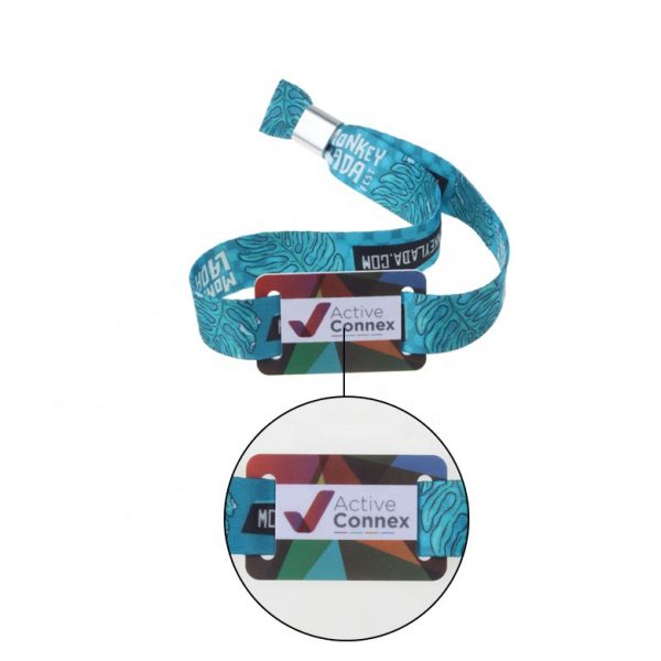 RFID Fabric Woven Wristbands
