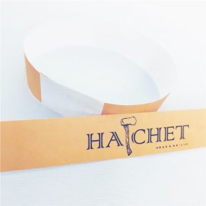 One Time Use RFID Tyvek Bracelets, NFC Paper Wristbands With Customized Logo