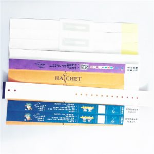 Medical Grade NFC Tyvek Paper Wristbands With Classic 1k Chip