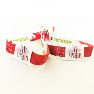Disposable clasp RFID woven bracelet, TK4100 ID fabric wristband for event