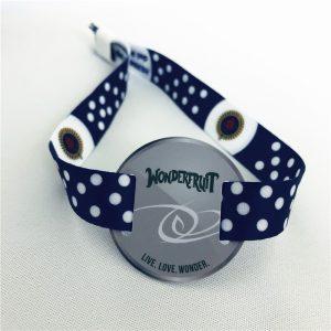 Tk4100 Satin ID woven bracelet, 125khz rfid fabric wristband for entrance