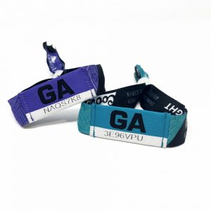 NFC Fabric Bracelet With S70 Chip For Festival Event E-tickets