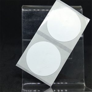PVC Round Writable NFC Blank Tag With F08 For High Temperature