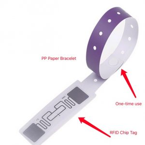 Customized Printing RFID Wristbands With QR Code And Icode Sli Chip