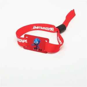 Music Event Entrance Access Control RFID Woven Wristband With Ntag216