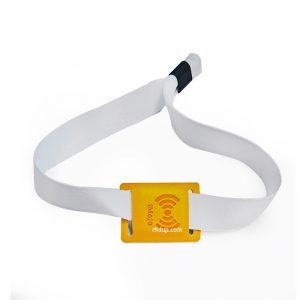 RFID PU Leather Wristbands NTAG216 NFC Bracelet with Metal locker