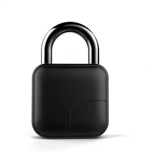 Biometric Door Lock Rechargeable Battery Waterproof Fingerprint Small Padlock with case to protect