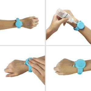 2020 Hot Sales Creative Silicone Hand Sanitizer Dispenser Bracelet Adjustable Size Wristband