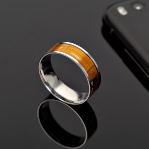 NTAG213 Waterproof Intelligent Digital NFC Chip Wearable Smart Rings For Date