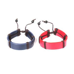 13.56mhz RFID Leather Wristband Fudan F08 Leather NFC Bracelet For Entrance/Access Control/E-payment