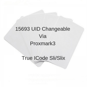 $15 Unit Price 15693 Icode Sli / Slix White Card UID Changeable  + Lua Script by Iceman (Pack of 5 pcs)