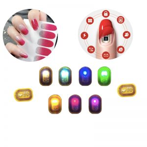 Wholesale Hot Selling Passive Nail Wraps LED Flashing Fingernail Stickers Micro NFC Nail Tag