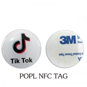$ POPL Social Media NFC Tag With customized logo Waterproof Epoxy Anti-metal Tag For People Chat