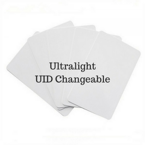 $20 Unit Price Ultralight 13.56mhz UID Changeable Magic Thin Card (White) (Pack of 5 pcs)
