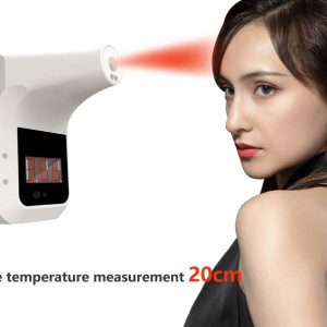 Intelligent IR Thermometer Non-contact Fixed Rechargeable Wall Mounted Infrared Thermometer With Tripod And Dispenser