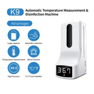 Automatic Temperature Measurement Disinfection Machine Touch-less Soap Dispenser