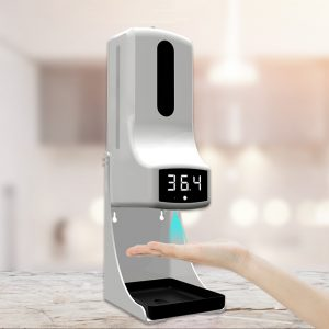 Easy To Install Automatic Hand Sanitizer Dispenser Temperature Measurement Thermometer Disinfection Machine K9 pro With Soap Dispenser