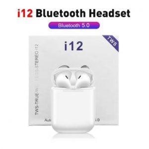 High Quality True TWS i12 Wireless Earbuds Earphone Mini Sports In Ear Headset Cheap Mobile Phone Headphones